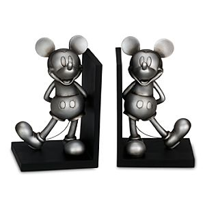 Pewter Mickey Mouse Bookends -- 2-Pc.