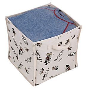 Foldable Vintage Mickey Mouse Storage Cube Set -- 2-Pc.