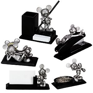 Pewter Mickey Mouse Desk Set -- 5-Pc.