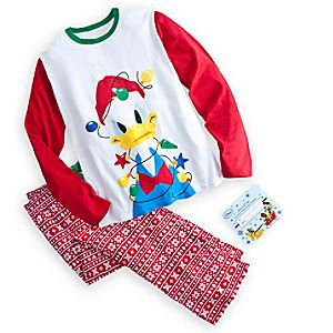 Donald Duck Holiday Pajama Set for Men