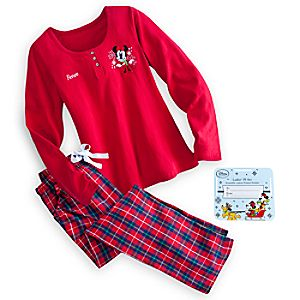 minnie mouse holiday pajama set for women personalizable