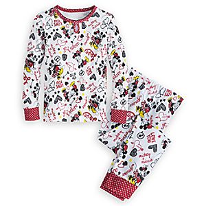 Mickey and Minnie Mouse PJ PALS for Girls - I Love Mickey Collection