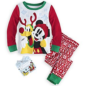 Mickey Mouse and Pluto Holiday PJ PALS for Boys
