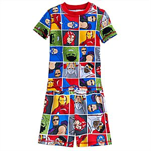 Marvels Avengers PJ PALS Short Set for Boys