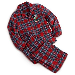 Mickey Mouse Flannel Pajama Set for Boys - Holiday