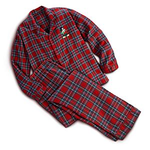 Mickey Mouse Flannel Pajama Set for Men - Holiday