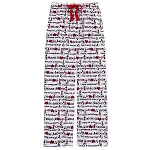 Quotation Mickey Mouse Lounge Pants for Women