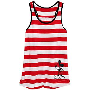 Striped Sleepwear Mickey Mouse Tank Top for Women
