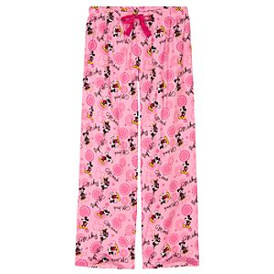 Fleece Minnie and Mickey Mouse Lounge Pants for Women