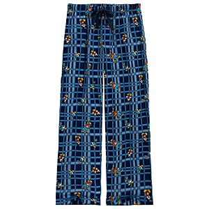 Plaid Mickey Mouse and Friends Lounge Pants for Men