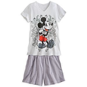Mickey Mouse Tee and Shorts Set for Women