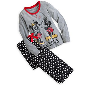 Mickey and Minnie Mouse Pajama Gift Set for Women