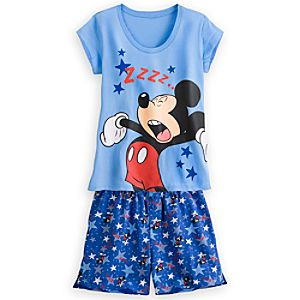 Mickey Mouse PJ Pal Shorts Set for Women