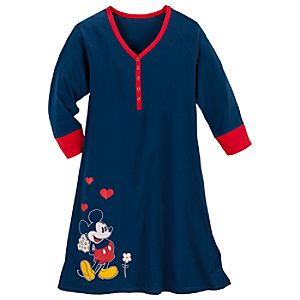 Raglan Mickey Mouse Nightshirt for Women
