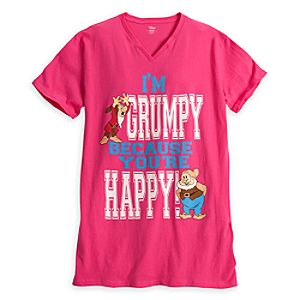 Grumpy and Happy Nightshirt for Women - Snow White and the Seven Dwarfs