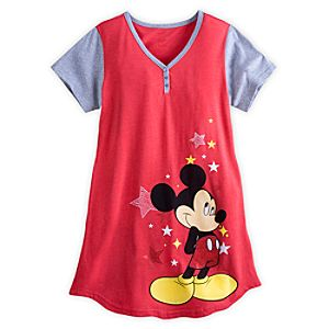 Mickey Mouse Nightshirt for Women - Red