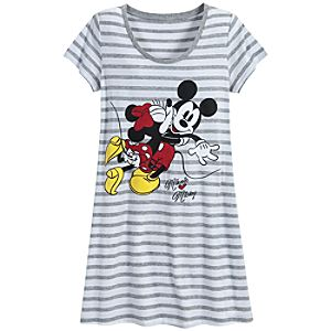 Minnie Hearts Mickey Mouse Nightshirt for Women