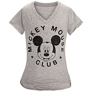 V-Neck Mickey Mouse Club Tee for Women