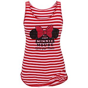 Striped Minnie Mouse Tank for Women