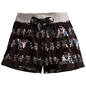 Minnie and Mickey Mouse Sleep Shorts for Women