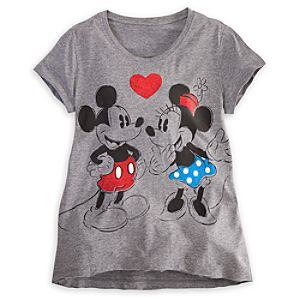 Mickey and Minnie Mouse Sleep Tee for Women