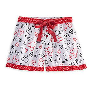 Mickey and Minnie Mouse Sleep Short for Women