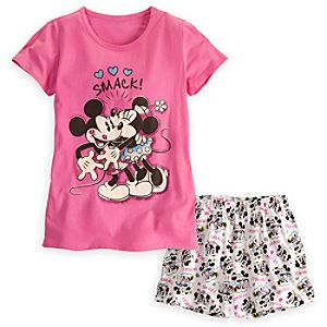 Mickey and Minnie Mouse Sleepwear Set for Women