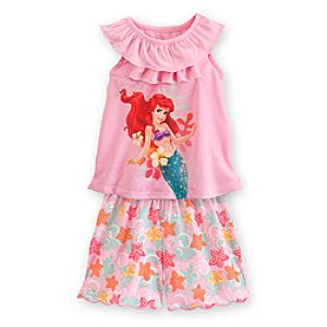 Ariel Nightshirt and Shorts Sleepwear Set for Girls