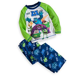 Monsters University Raglan Pajama Set for Boys