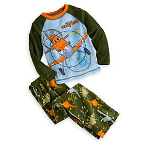 Planes Raglan Pajama Set for Boys