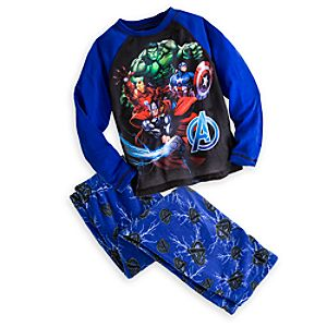 The Avengers Raglan Pajama Set for Boys