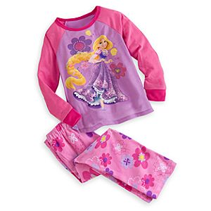 Rapunzel Raglan Pajama Set for Girls
