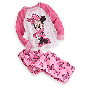 Minnie Mouse Raglan Pajama Set for Girls