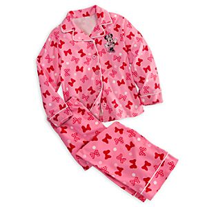 Minnie Mouse Pajama Set for Girls - Personalizable