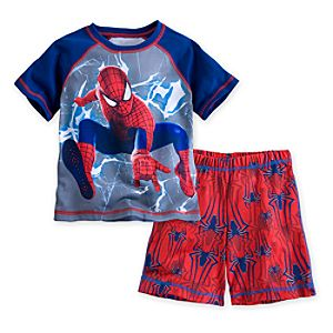 The Amazing Spider-Man PJ Pal Shorts Set for Boys