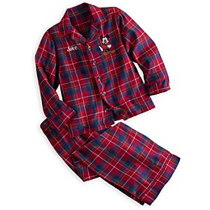 Mickey Mouse Plaid Pajama Set for Boys - Personalizable