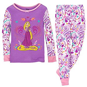 Whimsical Tangled Rapunzel PJ Pal for Girls