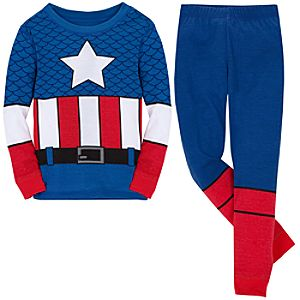 Deluxe Captain America PJ Pal for Boys