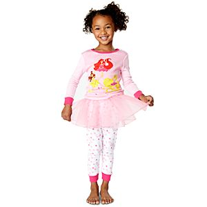 Deluxe Ballet Disney Princess PJ Pal and Tutu Set for Girls -- 3-Pc.