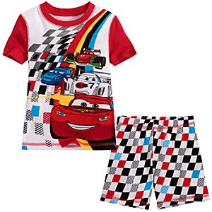 Short Cars 2 Lightning McQueen PJ Pal for Boys