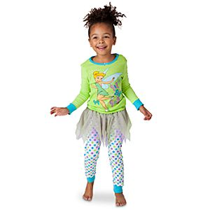 Deluxe Tinker Bell PJ Pal and Tutu Set for Girls -- 3-Pc.