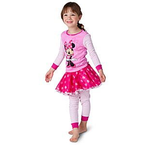 Deluxe Minnie Mouse PJ Pal and Tutu Set for Girls -- 3-Pc.