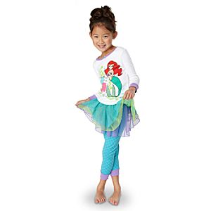 Deluxe Ariel PJ Pal and Tutu for Girls -- 3-Pc.