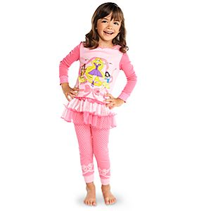 Deluxe Ballerina Disney Princess PJ Pal and Tutu Set for Girls -- 3-Pc.