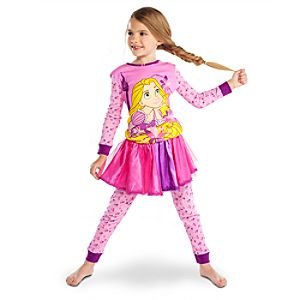 Deluxe Rapunzel PJ Pal and Tutu Set for Girls -- 3-Pc.