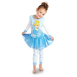 Deluxe Cinderella PJ Pal and Tutu Set for Girls -- 3-Pc.