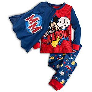 Deluxe Mickey Mouse PJ Pal Set for Boys -- 3-Pc.