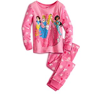 Long Sleeve Disney Princess PJ Pal for Girls