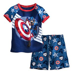 Captain America PJ Pal Shorts Set for Boys
