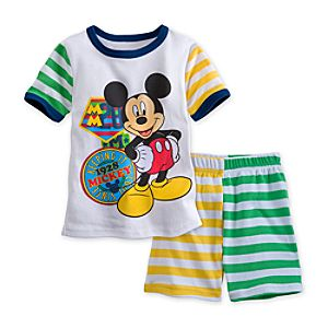 Mickey Mouse PJ Pal Shorts Set for Boys
